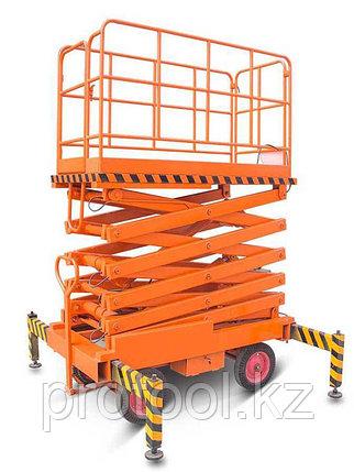 Подъемник ножничный передвижной TOR SJY 1000 кг 9 м (от сети) (N), фото 2