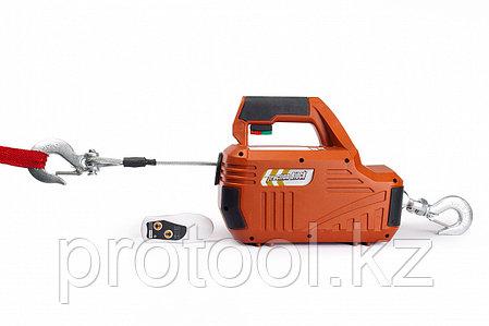 Лебедка электрическая переносная TOR SQ-02 450 кг 4,6 м 220 В с пультом, фото 2