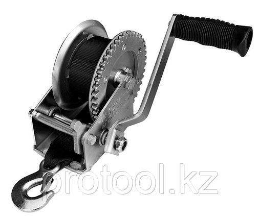 Лебедка ручная TOR ЛФ-2500 (FD) г/п 1,0 т, длина ленты 10 м, фото 2