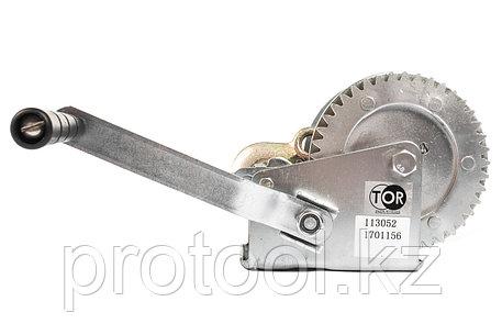 Лебедка ручная TOR ЛН-1200 (LHW) г/п 0,5 т, длина троса 10 м, фото 2