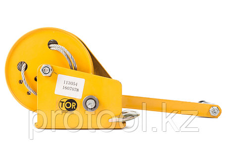 Лебедка ручная TOR ЛБ-1200 (BHW) г/п 0,5 т, длина троса 10 м, фото 2