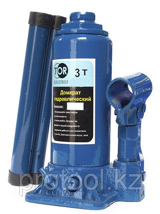 Домкрат гидравлический TOR ДГ-3 г/п 3,0 т (в пластиковом кейсе), фото 2