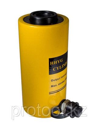 Домкрат гидравлический TOR ДП20П100 (HHYG-20100K), 20 т с полым штоком, фото 2