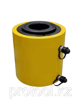 Домкрат гидравлический TOR ДП100Г100 (HHYG-100100KS), 100 т с полым штоком, фото 2