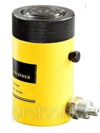 Домкрат гидравлический TOR HHYG-150100LS (ДГ150П100Г), 150т с фиксирующей гайкой, фото 2