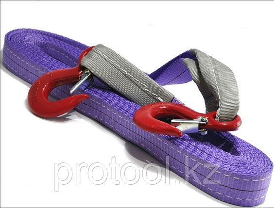 Буксир текстильный ленточный TOR БТЛ 4,5 т 5,0 м (крюк-крюк), фото 2