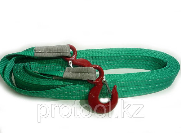 Буксир текстильный ленточный TOR БТЛ 8,5 т 6,0 м (крюк-крюк), фото 2