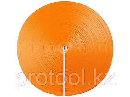 Лента текстильная для ремней TOR 75 мм 10500 кг (оранжевый), фото 2