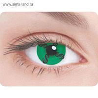 Карнавальные контактные линзы Adria Crazy - Зеленый доллар, в наборе 1шт