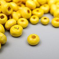 """Бусины для творчества дерево """"Сочный лимон"""" набор 20 гр 0,4х0,4 см"""