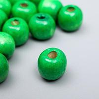 """Бусины для творчества дерево """"Зелёная трава"""" набор 30 гр 1х1 см"""