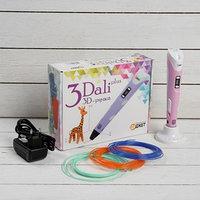 3D ручка 3Dali Plus, ABS и PLA, KIT FB0021Pk, розовая ( трафарет и пластик)