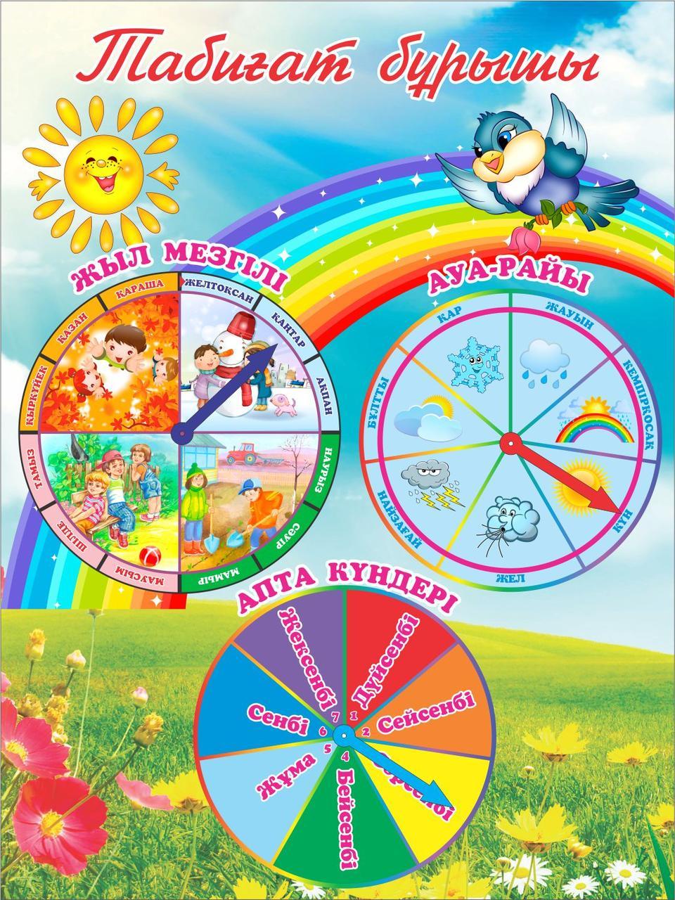 Детские стенды для детского сада табиғат бұрышы