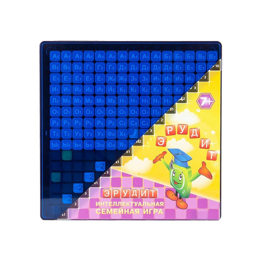 Настольная игра Эрудит. Синие фишки, 7+