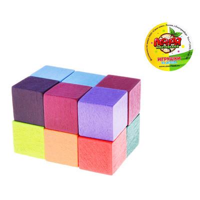 Деревянная Игрушка Головоломка Кубик на резиночке