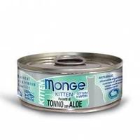 7092 MONGE CAT JELLY, тунец в желе с алоэ для котят, влажный корм, уп.24*80 гр.