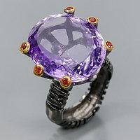 Кольцо с роскошным Аметистом 23 мм