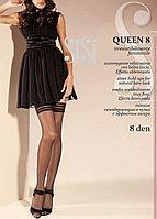 Чулки женские с кружевной резинкой Sisi Queen 8 den