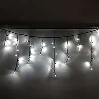"Водонепроницаемая, морозостойкая гирлянда ""Бахрома"" - 3х0,7 метра, 75 лампочек, белый цвет"