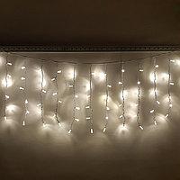 "Уличная новогодняя гирлянда дождь ""Дождь"" - 3х0,7 метра, 120 лампочек, тёплый-белый свет"