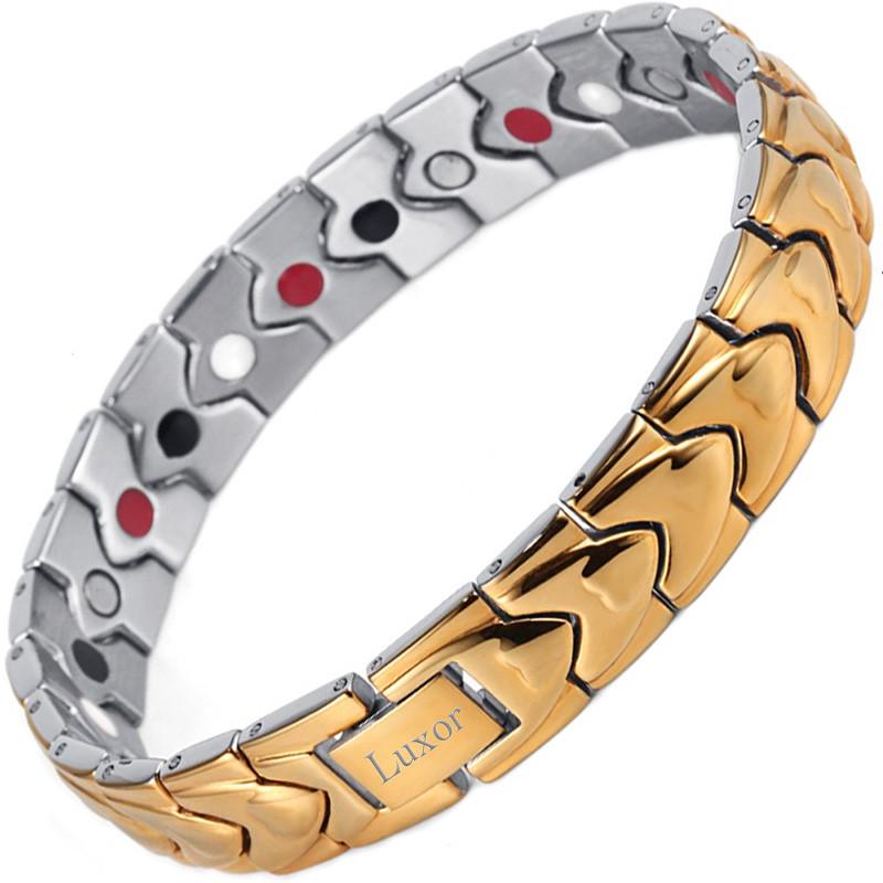 Магнитный браслет Сила Дракона gold