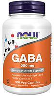 Now Foods, ГАМК, 500 мг, 100 вегетарианских капсул