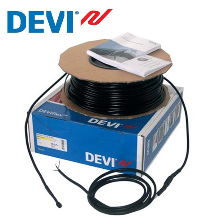 Нагревательный кабель для обогрева водостоков, желобов, крыш,20Вт/м, 6м Devi, Дания