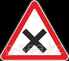 Дорожный знак 1.6 Пересечение равнозначных дорог