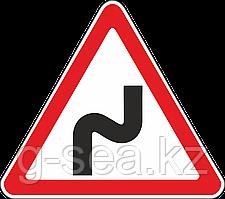 Дорожный знак 1.12.1 Опасные повороты