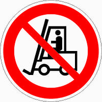 Знак Запрещается движение средств напольного транспорта