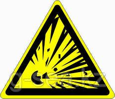 Знак Взрывоопасно