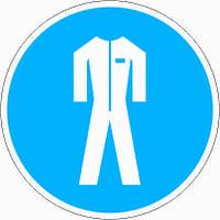 Табличка Работать в защитной одежде