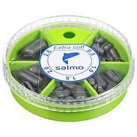 Грузила Salmo EXTRA SOFT, набор №2 малый, 5 секций 0,5-2,6 г, 60 г