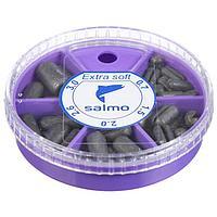 Грузила Salmo EXTRA SOFT, набор №3 малый, 5 секций 0,7-3 г, 60 г