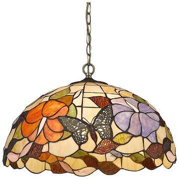 """Светильник """"Бабочки в цветах"""", 3х60Вт Е27, разноцветный"""