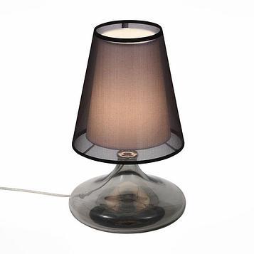 Настольная лампа AMPOLLA 60Вт Е27 хром 24x24x42см
