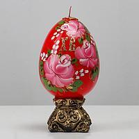 """Свеча пасхальная большая с росписью """"Яйцо"""",11х20 см, 670 гр"""