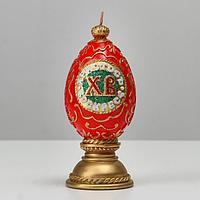 """Свеча пасхальная большая """"Яйцо ХВ"""", 6,5х15 см, 195 гр"""