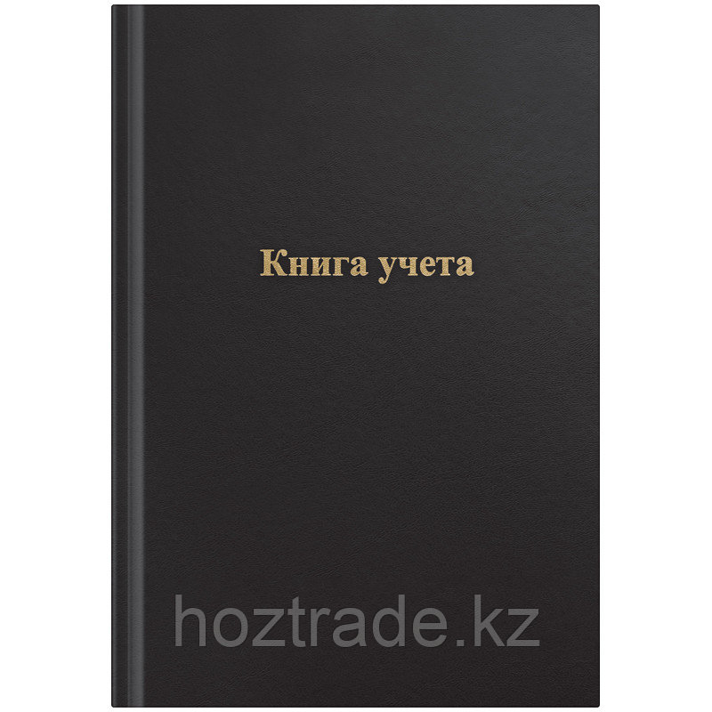 Книга учета OfficeSpace, А4, 96л., клетка, 200*290мм, бумвинил, цвет черный, блок офсетный