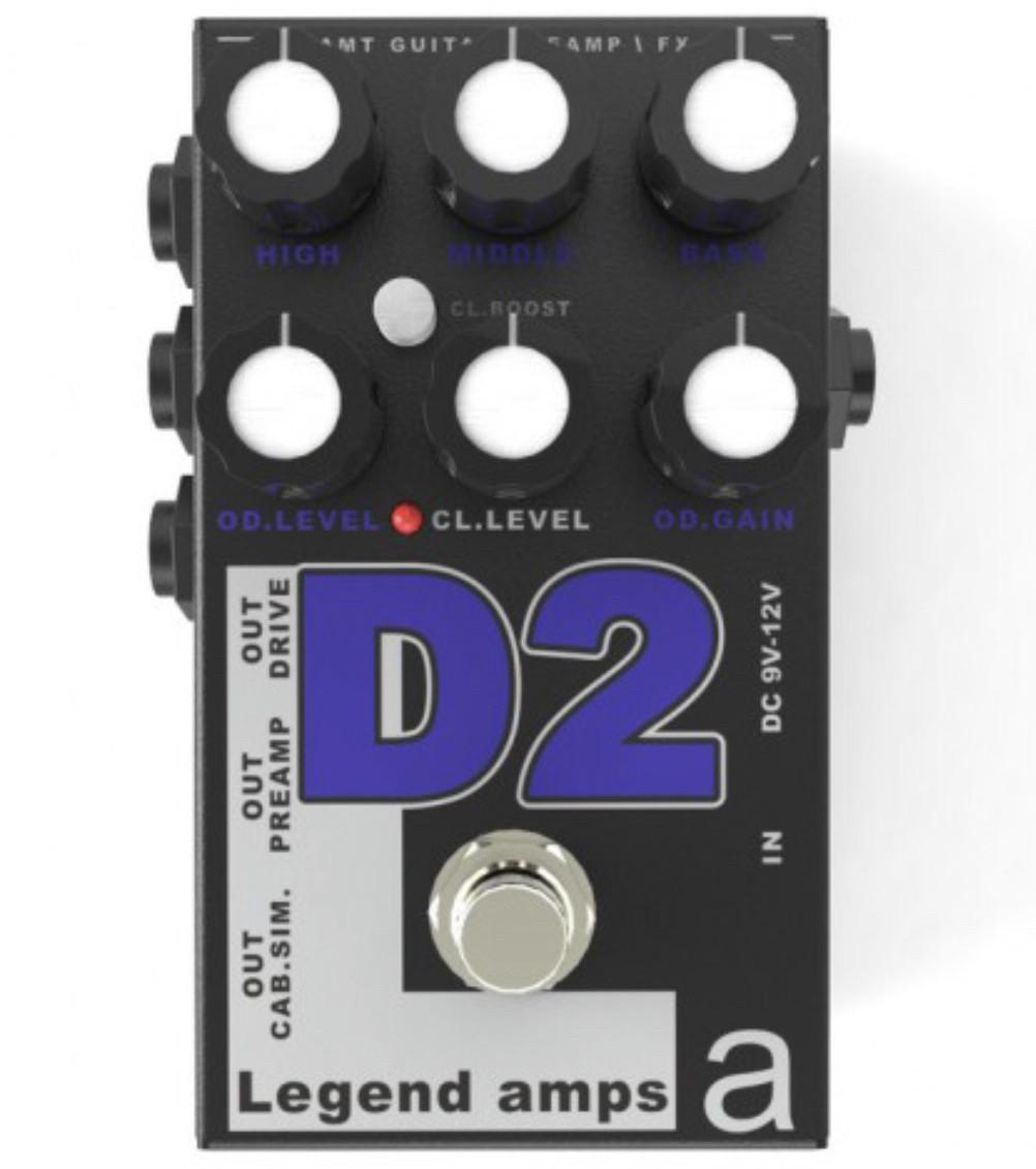Двухканальный гитарный предусилитель D2 AMT
