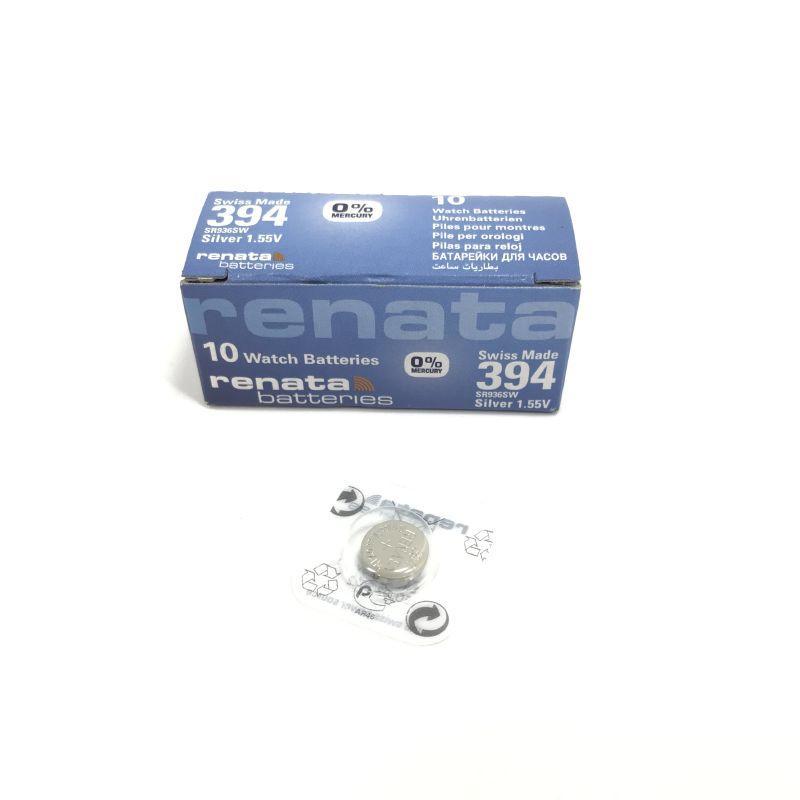 Батарейка R 394 Renata SR 936 SW 1.55V, 1 шт, блистер