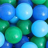 Шарики для сухого бассейна с рисунком, диаметр шара 7,5 см, набор 30 штук, цвет морской, фото 2