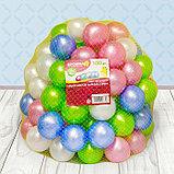 Шарики для сухого бассейна «Перламутровые», диаметр шара 7,5 см, набор 100 штук, цвет розовый, голубой, белый,, фото 7