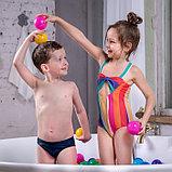 Шарики для сухого бассейна с рисунком, диаметр шара 7,5 см, набор 150 штук, разноцветные, фото 2