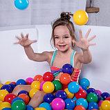 Шарики для сухого бассейна с рисунком, диаметр шара 7,5 см, набор 150 штук, разноцветные, фото 3