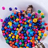 Шарики для сухого бассейна с рисунком, диаметр шара 7,5 см, набор 150 штук, разноцветные, фото 4