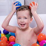 Шарики для сухого бассейна с рисунком, диаметр шара 7,5 см, набор 150 штук, разноцветные, фото 5