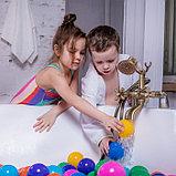 Шарики для сухого бассейна с рисунком, диаметр шара 7,5 см, набор 150 штук, разноцветные, фото 7
