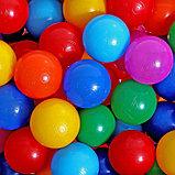 Шарики для сухого бассейна с рисунком, диаметр шара 7,5 см, набор 150 штук, разноцветные, фото 9