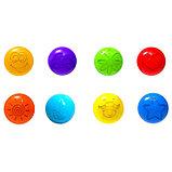 Шарики для сухого бассейна с рисунком, диаметр шара 7,5 см, набор 150 штук, разноцветные, фото 10